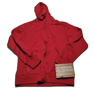 Nike Mens Red Solid Therma Fit Fleece Activewear Hooded Full Zip Jacket Small
