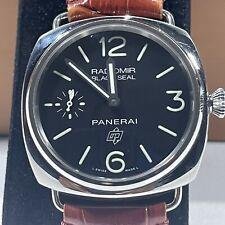 Panerai Radiomir Wristwatch PAM00380 Black Seal Logo Hand Winding Brown Leather