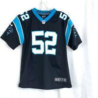 Nike On Field NFL Carolina Panthers Jersey Jon Beason #52 Youth Large 14/16