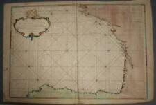 BISCAY BAY FRANCE & SPAIN 1750 BELLIN LARGE ANTIQUE COPPER ENGRAVED SEA CHART