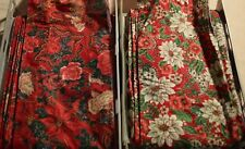 Hirschberg Schutz 26 Yards Total Wired Double Pull Floral Santa Christmas