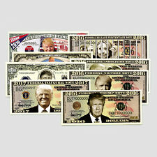 Set of 25 mixed USA fantasy paper money Donald Trump