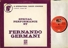 3 CO47-01636 FERNANDO GERMANI special performance by italian hmv LP PS EX/VG