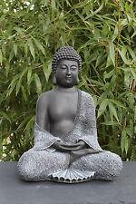 Buddha Figur sitzend, Statue Stein-figur Gartenfigur Deko frostsicher