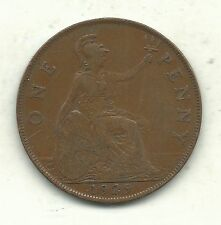 Very Nice Better Grade 1929 Great Britain English Large Penny Cent-Agt215