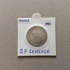 Pièce de 2 F en argent France Semeuse 1901