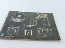 ORIGINAL CANON A-1 INSTRUCTION MANUAL