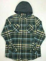 Men's RVCA Hooded Flannel Shirt