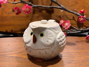 Japanese Lucky Owl Tea Pot White  Made in Japan