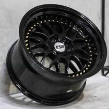 """18"""" 18x8.5 ESR SR01 5X100 +30 Wheels Fit VW Golf Jetta MK4 Black Rims Set (4)"""