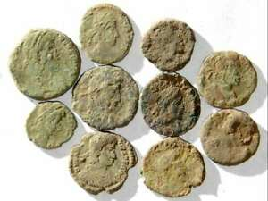 IVLLA 10 Ancient Roman Coins Uncleaned and As Found X01603