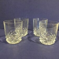 BEAUTIFUL SET OF 4 HEAVY CRYSTAL OLD FASHIONED COCKTAIL GLASSES