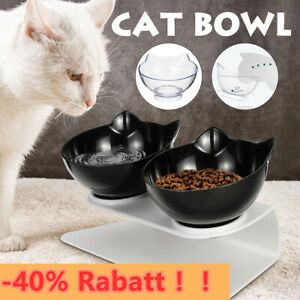 15° Haustier Dual Futternapf Fressnapf Katzennapf Ständer Schräge Für Kleine