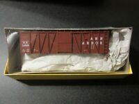 Accurail HO Scale 40 Foot Ann Arbor OB Box Car With Steel Ends Kit