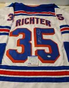 Mike Richter Signed Rangers Jersey (PSA) 1994 Stanley Cup Champion / Goaltender
