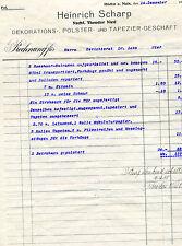 Alte Rechnung 1925 Höchst Heinrich Scharp Theodor Nied Gerichtsrat Dr. Lotz