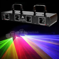 4 Lens 760mW 4Colors RGYB DJ Laser Light DMX 7CH Disco Stage Party Lighting Show