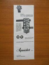 1963 AQUASTAR PROFONDIMETRO OROLOGIO SUBACQUEA SUB EPOCA VINTAGE PUBBLICITA