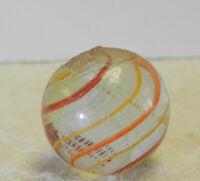 #12873m Vintage German Handmade Latticino Swirl Marble .66 Inches