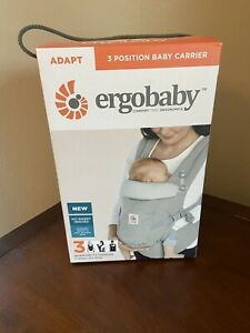 Ergobaby 3 Position Ergo Baby Carrier adapt 7-45lbs Pearl Grey