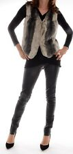 ELEGANCE PARIS LUXE Felljacke gilet pull FOURRURE VERITABLE fourrure T 38