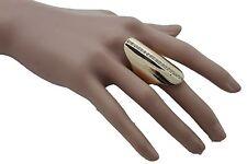 Silver Bling Going Out Jewelry Fancy Premium Women Gold Metal Long Ring Fashion