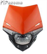 MOTORCYCLE STREETFIGHTER KTM ORANGE LED HEADLIGHT SX EXC XCF SXF GSX ZXR CBR CBF