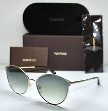 TOM FORD ZEILA TF654 28B ROSE GOLD GRADIENT GREY CAT EYE  SUNGLASSES. 60mm