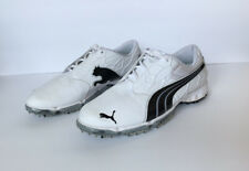 New listing Puma Biofusion Lite S2Quill Mens Laceup Golf Shoes White/Black Size 9.5 18709102
