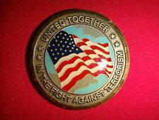 WE WILL NOT FORGET 9-11-2001 FIGHT AGAINST TERRORISM 2-Side Challenge Coin