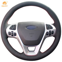 Leather Steering wheel Cover for Ford Explorer 2011-16 Taurus 12-15 Edge #0660