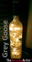 Grey Goose 100 LED Bottle Lamp Light Glass Vodka Upcycled Mains +Colours JD