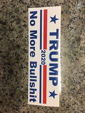 Trump No More Bullshit President MAGA USA Window Decal Bumper Sticker