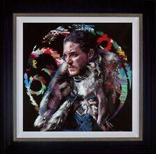 Zinsky Winter is Coming Framed Embellished Canvas on Board