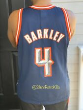 Charles Barkley Vintage Retro Houston Rockets Champion NBA Jersey Top Size 44