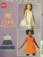 McCalls Sewing Patterns 6685 Girls Childs Dresses Dress Size 7-14 Uncut