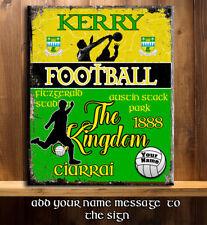 PERSONALISED KERRY GAA FOOTBALL GAELIC SPORT VINTAGE Metal Sign RS357