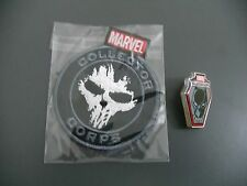 FUNKO POP MARVEL COLLECTOR CORPS CROSS BONES PATCH AND BLACK PANTHER PIN BADGE