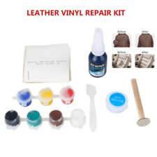 Car Leather Seat Burns Scratches Holes Rips No Heat Vinyl Renovation Repair Kit