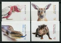 Australia 2019 MNH Fauna Galah Tasmanian Devil 4v S/A Set Birds Lizards Stamps