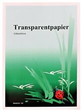 20 Einzelblatt weißes Transparentpapier DIN A4 70 g/m² Transparentes Papier