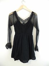 Women's Free People Black Lace Sheer Dress Size 0