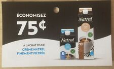 Lot of 10 x 0.75$ Natrel Products Coupons Canada