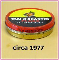 Vintage Tobacco Tin 🚬 Tam O'Shanter 🚬 Circa 1977 🚬 ⭐⭐⭐⭐