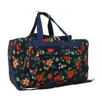"""Canvas 20"""" carry on airplane/duffle/gym/overnight bag NWT FREE SHIP! Flowers NEW"""