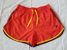 Womens Size Small Red FILA Sport Running Shorts with Inner Brief (pre-owned)
