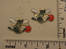 TWO Old 1989 Limited Edition NBA Basketball Pins - Charlotte Hornets