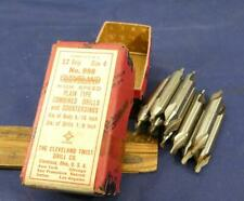 12 Size 4 High Speed Plain Type Combined Drills Countersinks Cleveland Twist 998