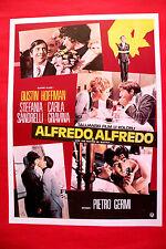 ALFREDO ALFREDO 1972 DUSTIN HOFFMAN STEFANIA SANDRELLI GRAVINA EXYU MOVIE POSTER