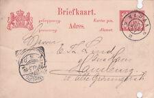Postkarte Ganzsache Briefkarte 5 Cent Niederländisch-Indien 1906 Hamburg